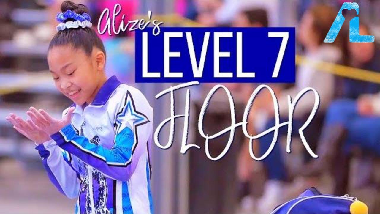Alizé Lee   USA Gymnastics Level 7 State Floor Routine - YouTube