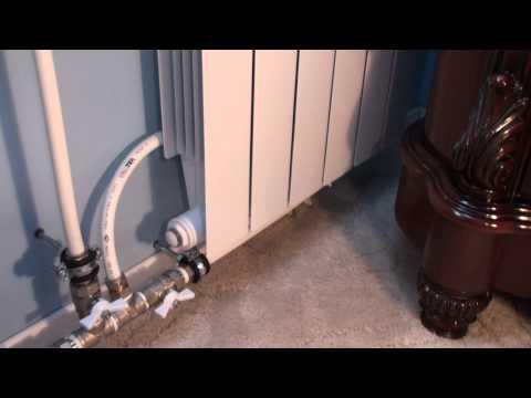 видео: Отопление 2радиатора и Обход Байпас