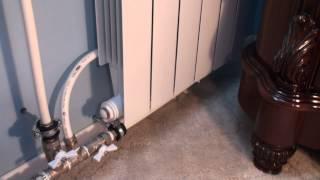 Отопление 2радиатора и Обход Байпас(Отопление: Девятый этаж ЖБ дома, разлив идет от меня: Схема моей девятихатки: