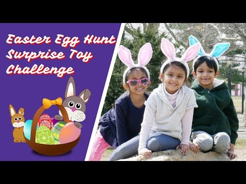 Easter Egg Hunt Surprise Toy Challenge