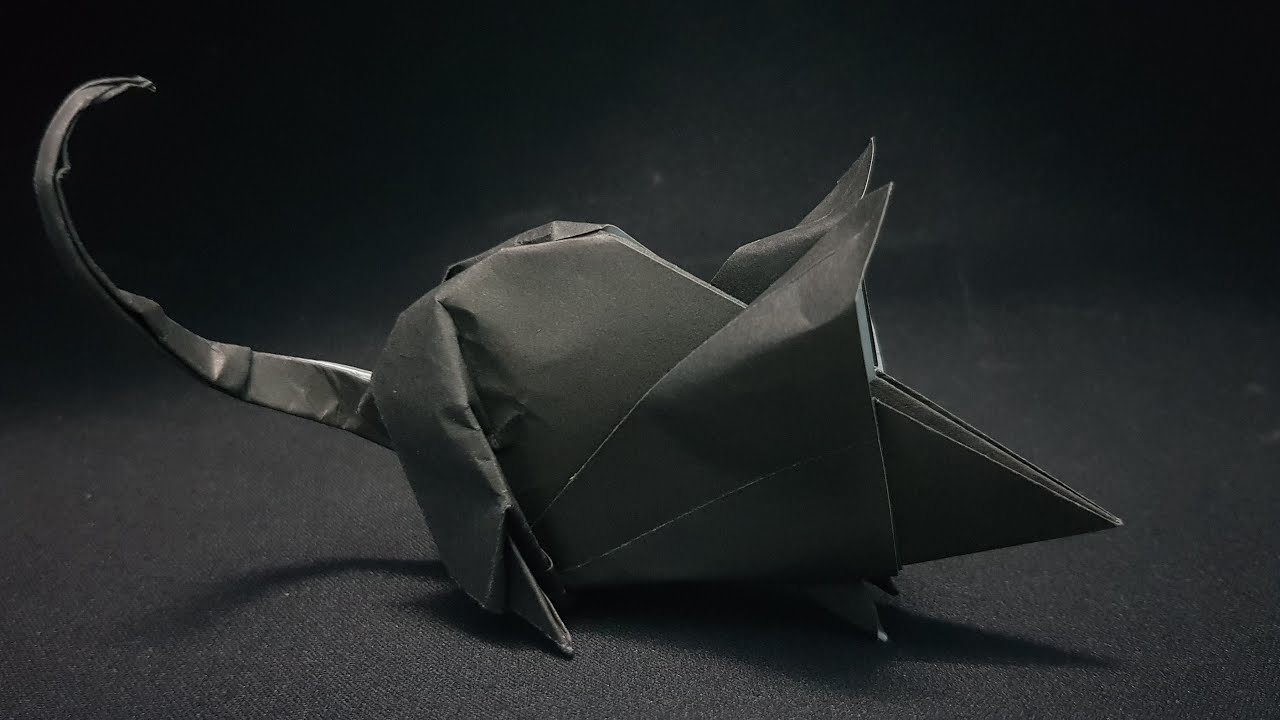 Gấp Con Chuột Bằng Giấy - Origami Mouse