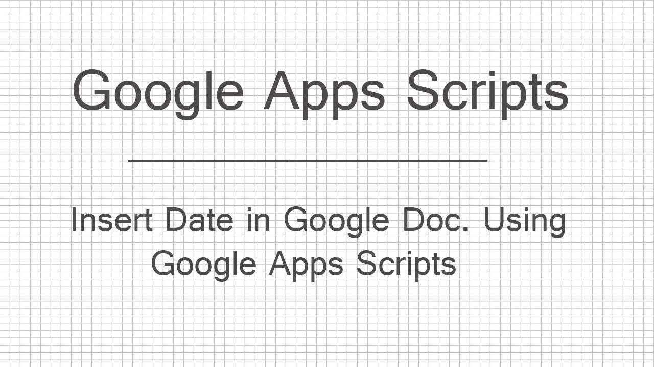 how to add a changing date in google docs