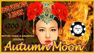 🐲HIGH LIMIT Dragon Link 🐲BIG WIN on Autumn Moon 🐲 Slot Machine Bonus on Happy & Prosperous Casino