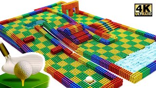 DIY - How To Make Marble Golf Board Game From Magnetic Balls (Satisfying) | Magnet World Series