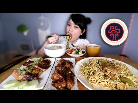 CHINESE FOOD MUKBANG   crispy noodles, 8 treasures soup, soy chicken etc.