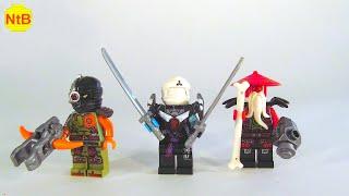 LEGO NINJAGO custom EVIL NRG ZANE, RONIN & SENSEI WU