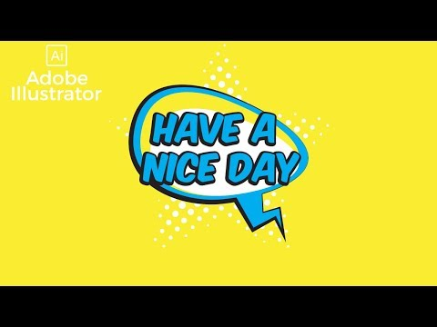 Create A Retro Cartoon Speech Bubble Text Effect Illustrator Tutorial