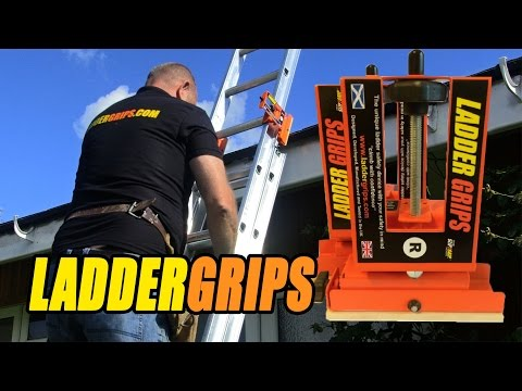 Ladder Safety Accessories & Devices From Ladder Grips Provide 350% More Ladder Stability