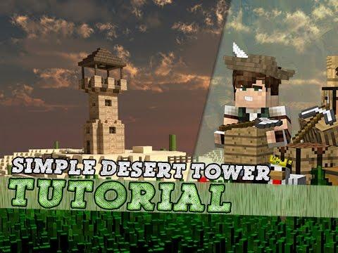 Minecraft Tutorial: Basic Arabian Desert Tower!