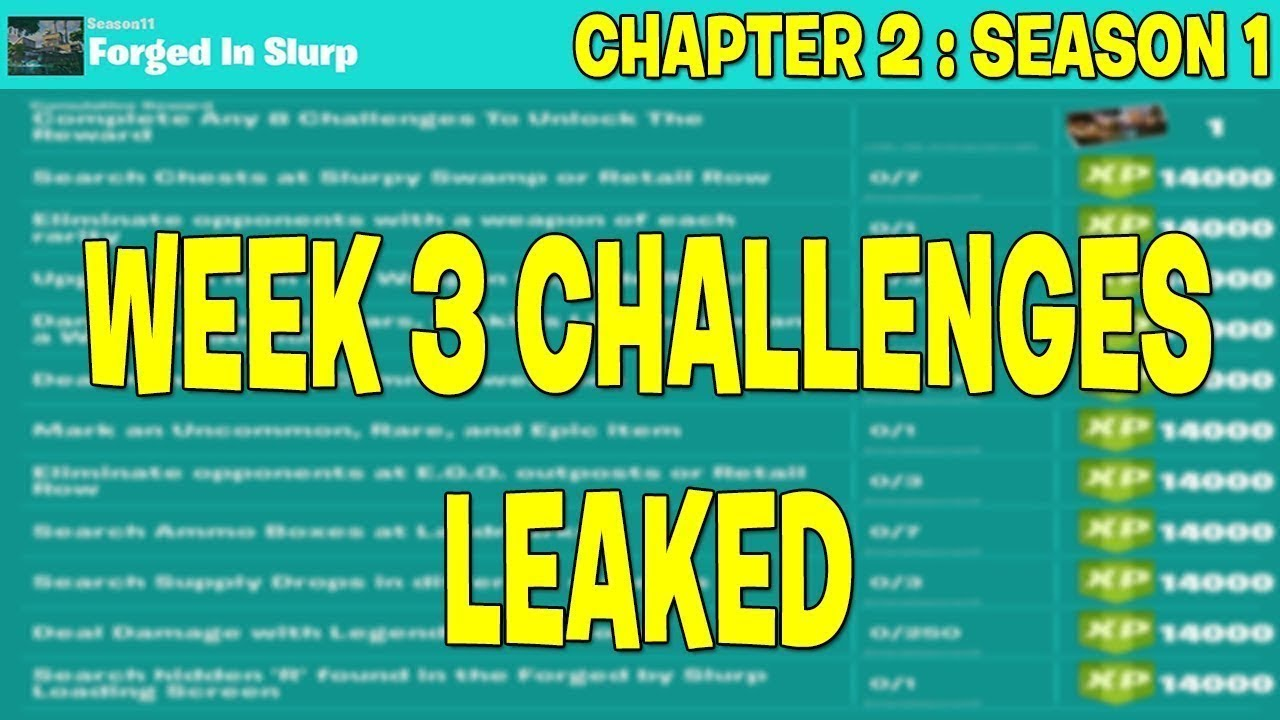 Fortnite Chapter 2 Week 3 Complete Challenges Guide Youtube