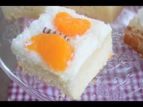 Mandarinen Schmand Schnitten Schmetterling Kuchen