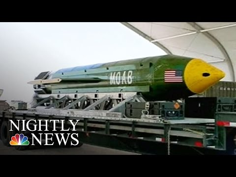 US Military Drops Its Largest Non-Nuclear Bomb Ever Used In Combat | NBC Nightly News