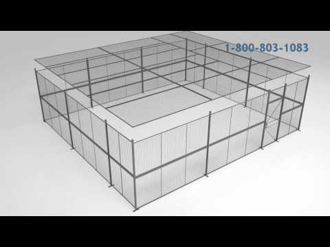 Modular Wire Partition Enclosures and Security Cages