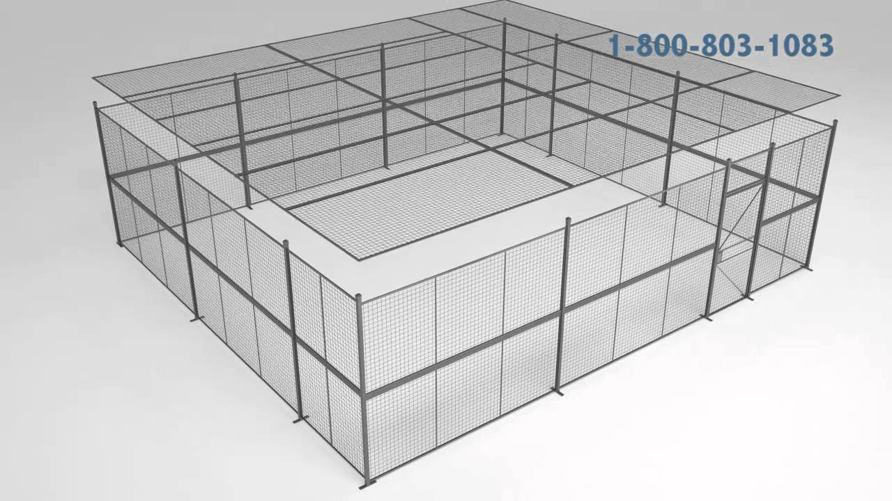 Modular Wire Partition Enclosures and Security Cages - YouTube