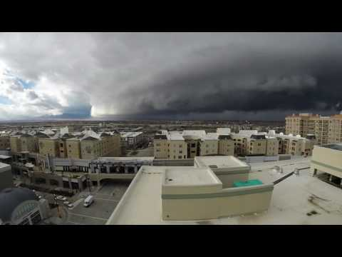 Storm front moves into Salt Lake City