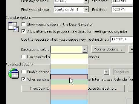 Microsoft Office Outlook 2003 Change the background color of your - microsoft office calendar