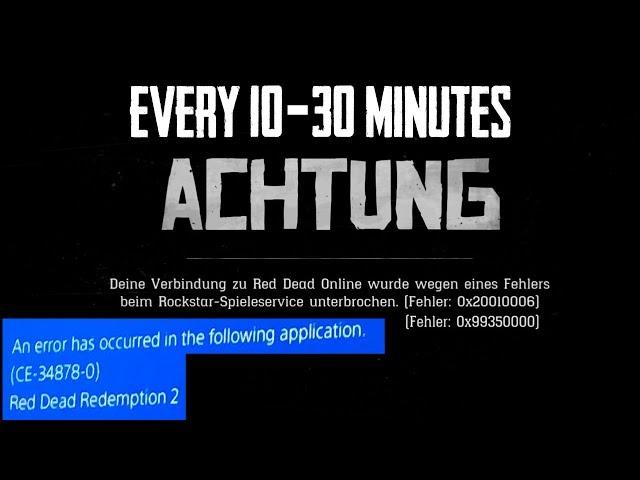 Red Dead Online / RDR 2 Online Error / Fehler 0x99350000 0x20010006 [FULL  HD] [GER]