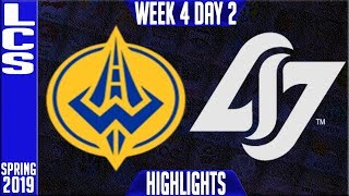 GGS vs CLG Highlights| LCS Spring 2019 Week 4 Day 2 | Golden Guardians vs Counter Logic Gaming