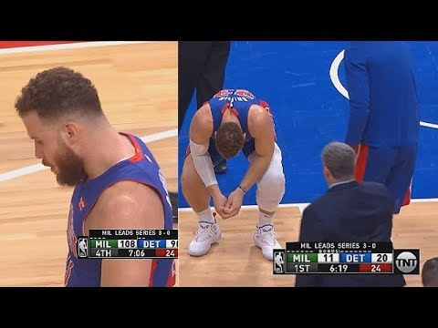 Blake Griffin Heartbroken After Injury But Returned To The Game & Gets Standing Ovation!