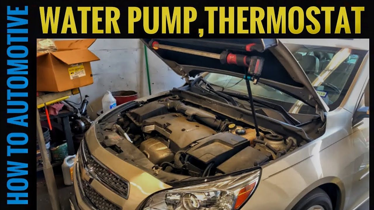 Chevy Malibu With 2 5 L Engine Water Pump Thermostat And Coolant Reservoir Bottle Youtube