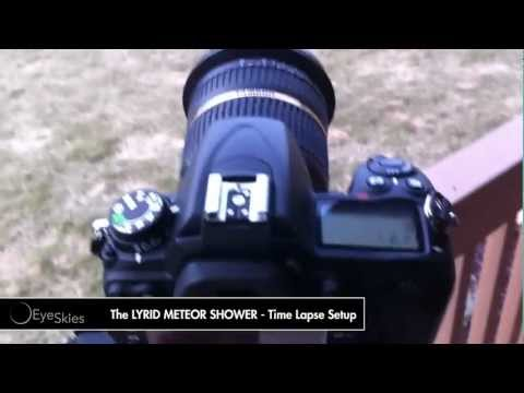The LYRID METEOR SHOWER - Time Lapse Setup
