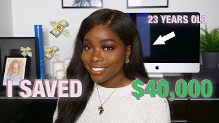 HOW I SAVED $40,000 BY AGE 23 | MY MONEY STORY, WHAT I'VE LEARNED + ADVICE