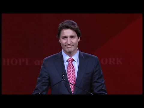 The next Prime Minister of Canada - Justin Trudeau