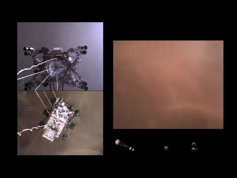 Первое видео посадки Марсохода на Марс (перевод) | звуки Марса от Perseverance и первая панорама