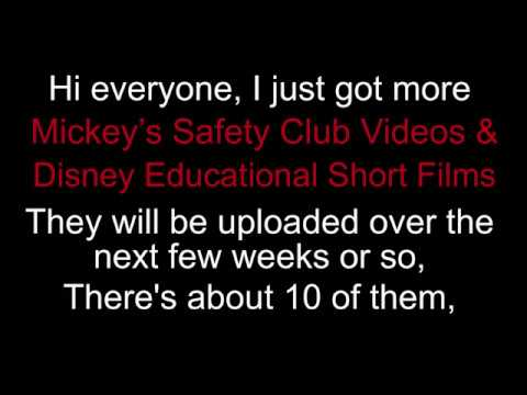 NEW Mickey's Safety Club Videos & Disney Educational Short Films Hbvideos