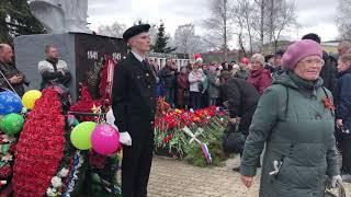 О возложении цветов к Вечному огню у Памятника котлашанам, погибшим в Великую Отечественную войну