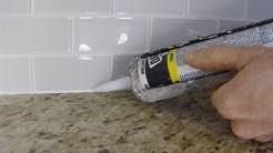 How To Install Caulk On A Kitchen Tile Backsplash