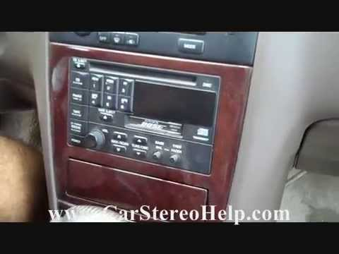 How To Nissan Maxima Bose Stereo Removal 1995 1999 Replace Cd Tape Display You