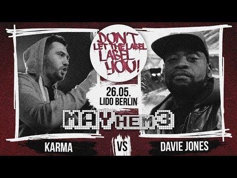 DLTLLY // Rap Battles // Davie Jones Vs Karma (MAYhem3)