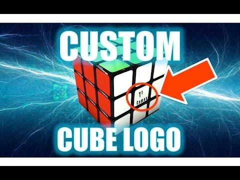 how to make your own custom rubik s cube logo youtube