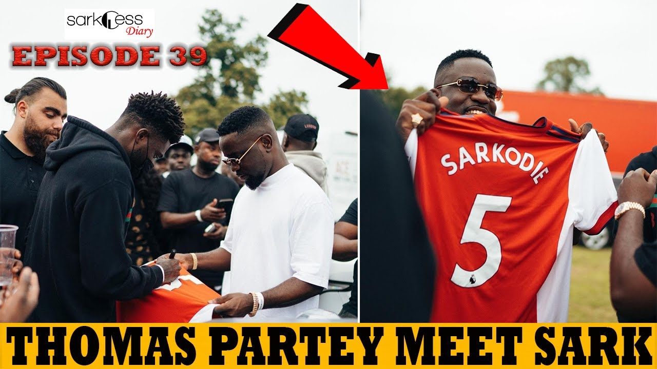 SARKCESS DIARY 39: Thomas Partey Gift Sarkodie & Others Arsenal Jersey During Party At The Park UK