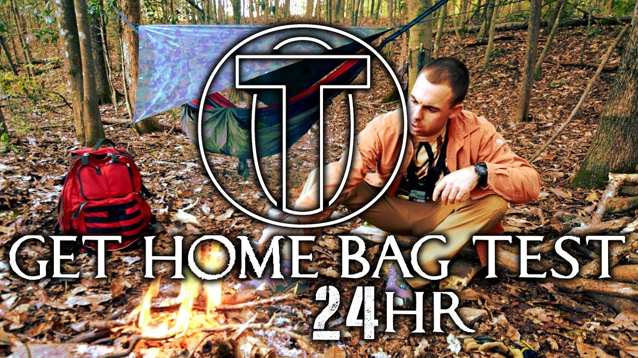 Mystery Get Home Bag Test ▪ 24 HR Solo Survival Overnight