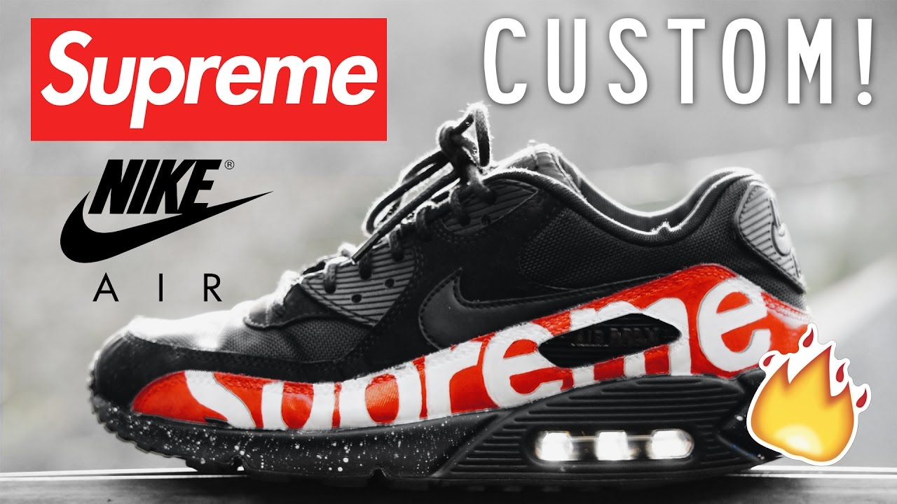 16a5c54aa1f Custom Air Max 90 - Supreme - YouTube