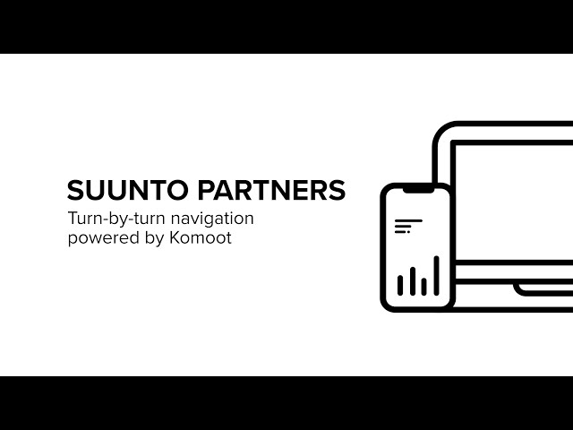 Suunto Partners - Getting started with Komoot