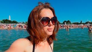 #Анапа ☀️04.08.20г.Одна купаюсь на пляже без мужа и детей. Ушла подальше от тины и вони.