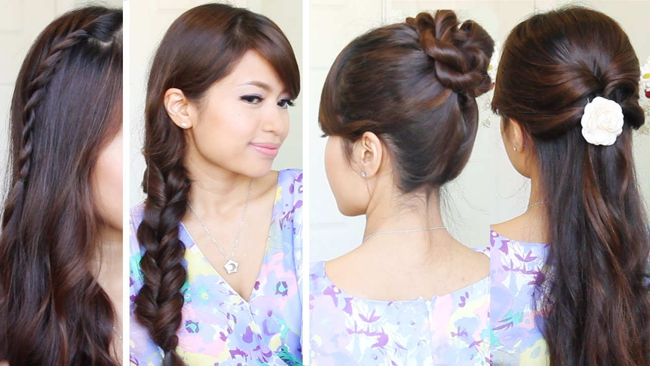 quick & easy school hairstyles