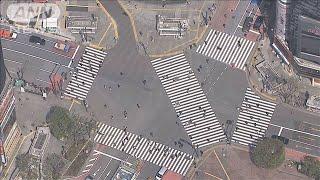 東京23区来訪者推計 先週末の人出は平日の5割以下(20/04/07)