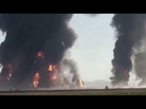 Gas tanker explodes at Iran-Afghanistan border