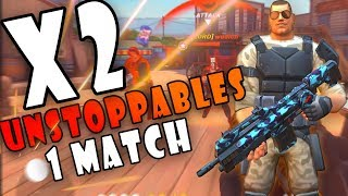 Guns of Boom #35: 1 MATCH - 2 UNSTOPPABLES | My Best Gameplay!