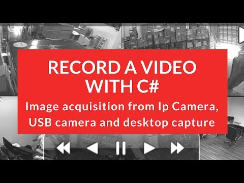 How to record a video with C# - WPF and AForge from a camera.