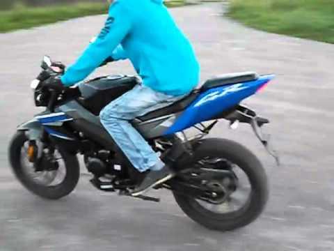 Выбиваем подшипник на заднем колесе мотоцикла Irbis GR 250 - YouTube
