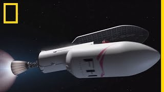 Décollage de Falcon Heavy, fusée opérationnelle la plus puissante au monde