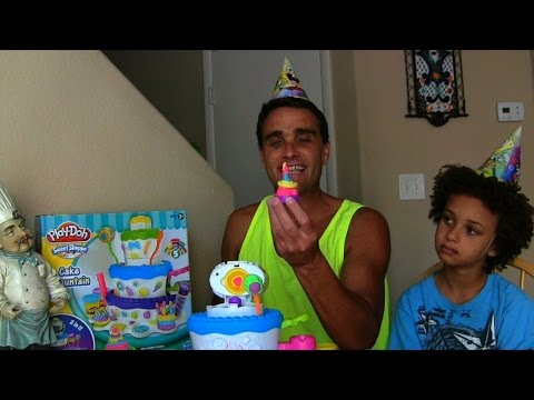 Play Doh Cake Mountain Birthday Play-Doh Set Review! || Play Doh Videos || Konas2002