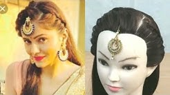 Hairstyle Using Maang Tikka On Lehenga In Open Hairs Free Music