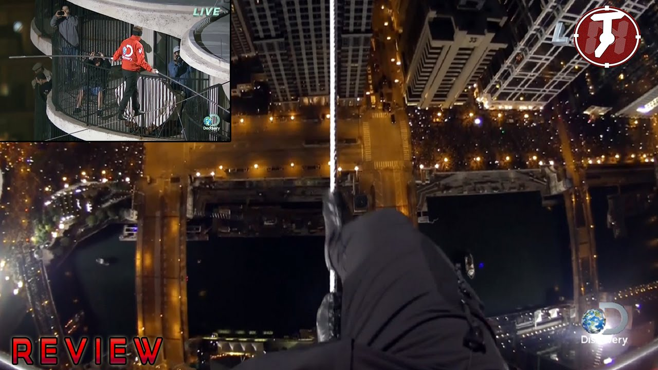 Nik Wallenda Chicago Nik Wallenda Blindfolded Walk Tightrope - Nik wallendas epic blindfolded skyscraper tightrope walk
