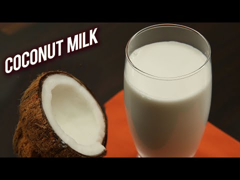 How To Make Fresh Coconut Milk | Home Made Coconut Milk | World Coconut Day Special - Ruchi